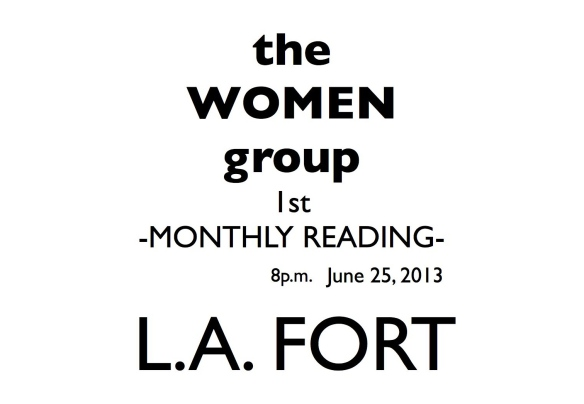 MONTHLY READING @ L.A. FORT