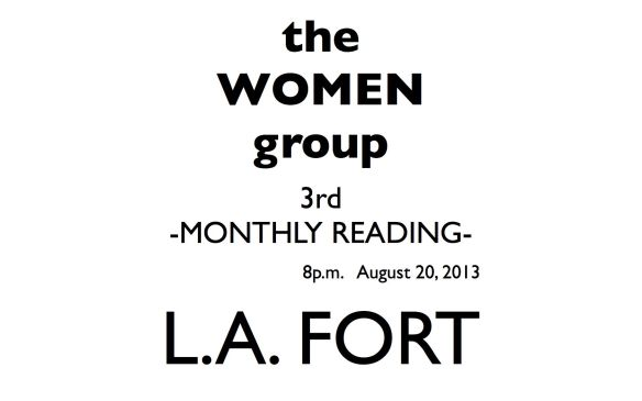 3rd MONTHLY READING @ L.A. FORT